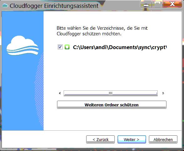 cloudfogger folder